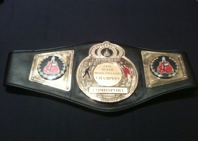 City Super Middleweight Champion Belt