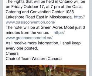 WBC Canadian Amateur Showdown Announcement!