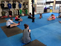 Leg Stretch – Women's Kickboxing
